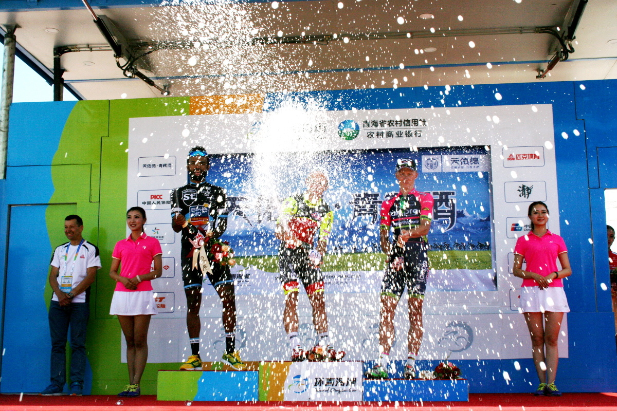 Image result for Meron Teshome with great 2nd place on stage 11 at Tour of Qinghai Lake (UCI 2.HC)