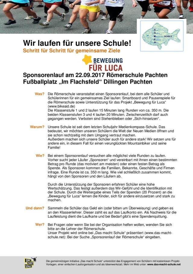 Sponsorenlauf der Römerschule #lucabiwer | BIKE AID